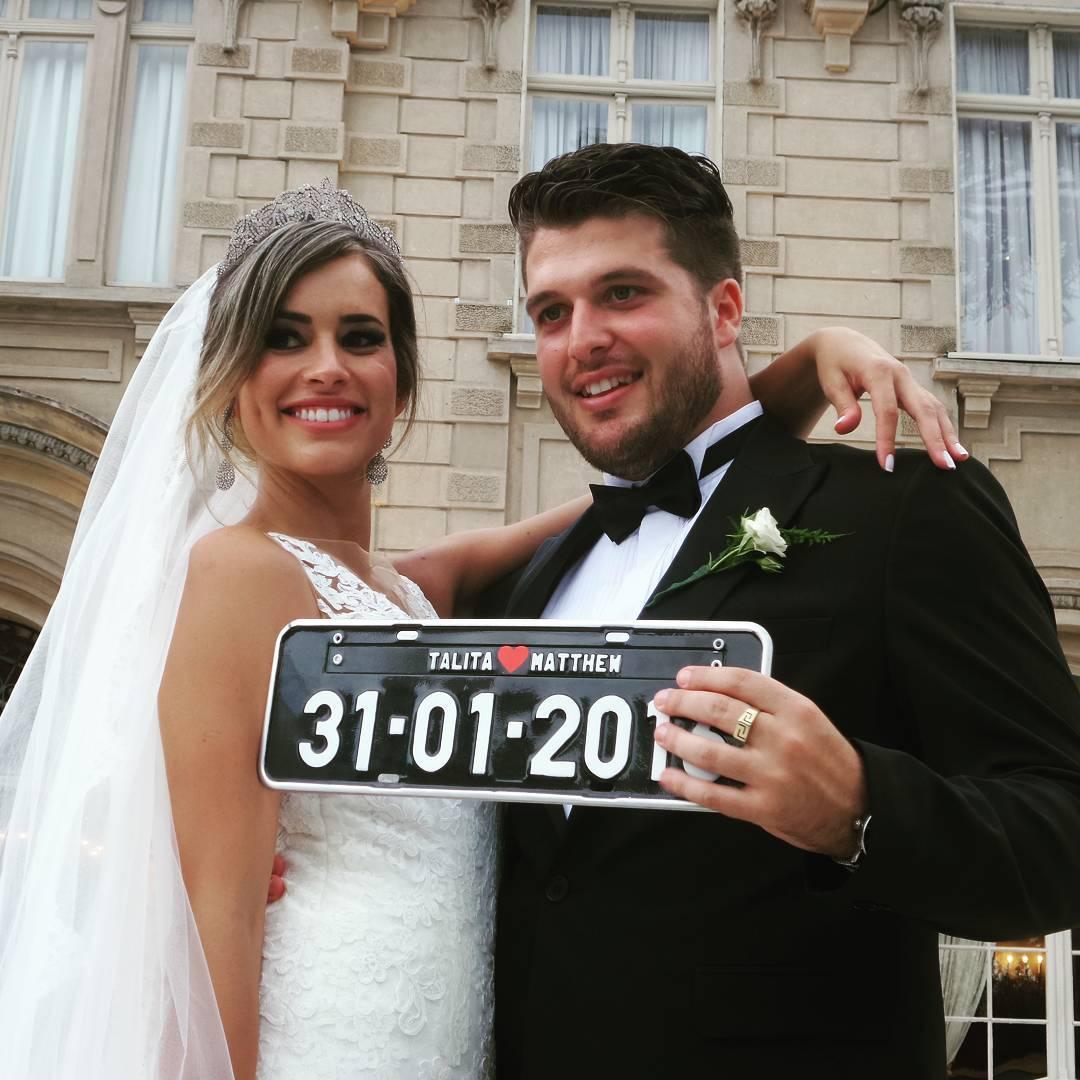 placa personalizada noivos