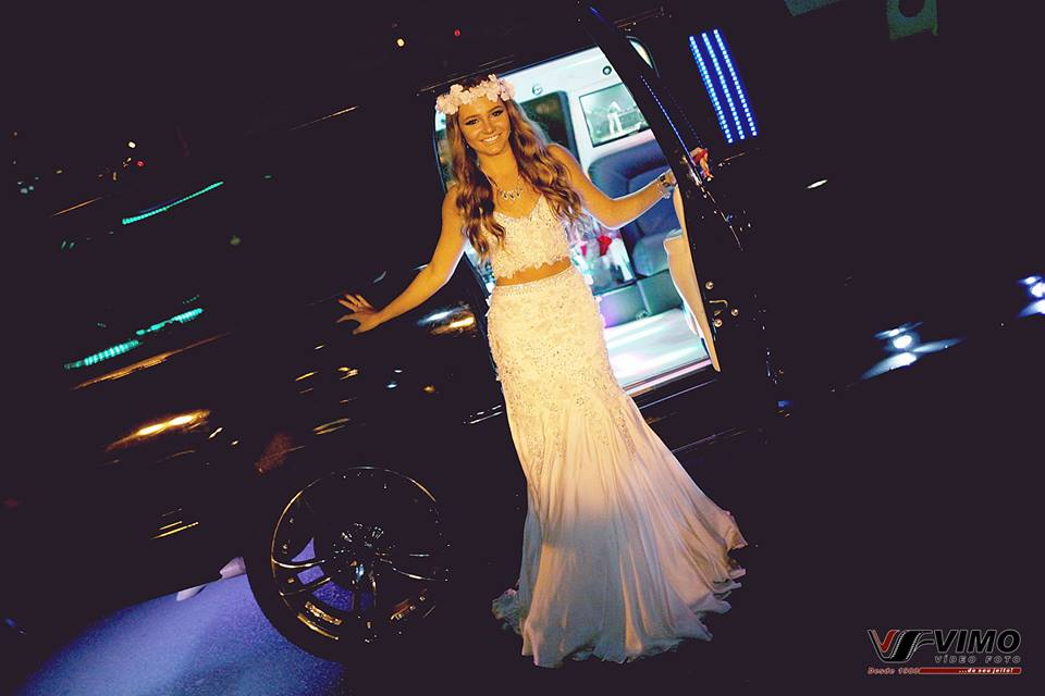 Debutante na limousine