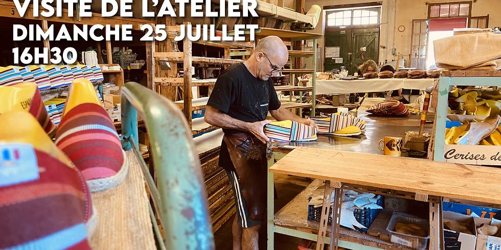 Visite de l'atelier (Dimanche 25 juillet 16h30)