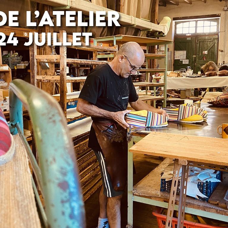 Visite de l'atelier (Samedi 24 juillet 15h45)