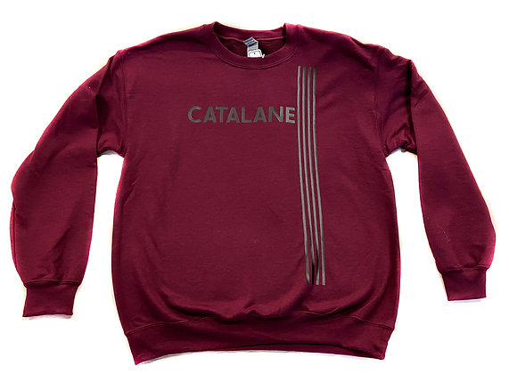 Sweat Catalan bordeau