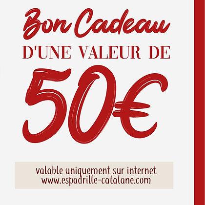 Gift voucher (50€)