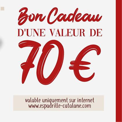 Bon cadeau (70€)