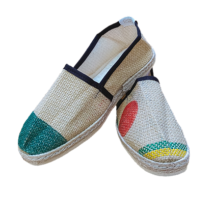 Espadrille in recycled coffee bags