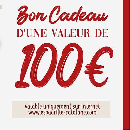 Bon cadeau (100€)