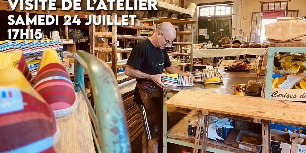 Visite de l'atelier (Samedi 24 juillet 17h15)