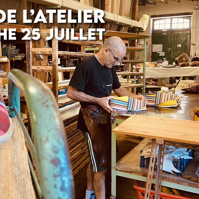 Visite de l'atelier (Dimanche 25 juillet 12h15)