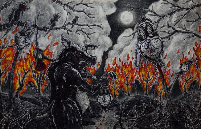 Apocalyptic Scene with Bear