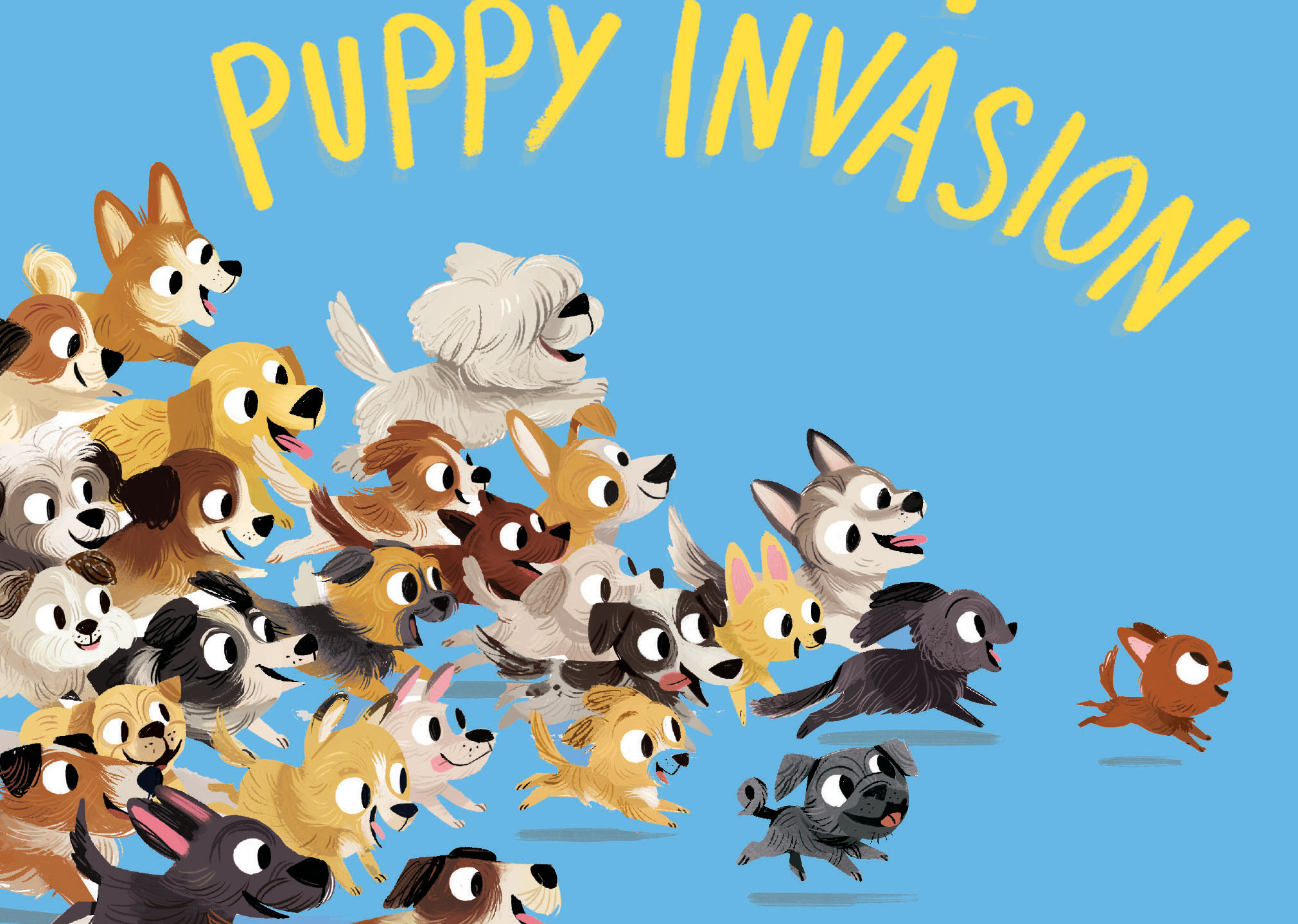 Great Puppy Invasion Padded Board Book