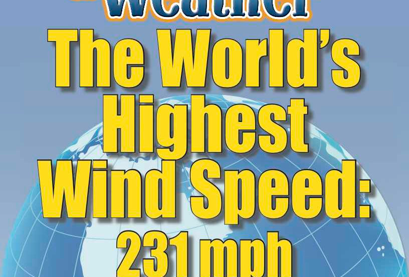 Amazing World Record of Weather: HIGHEST WIND SPEED—Worksheets and Activities