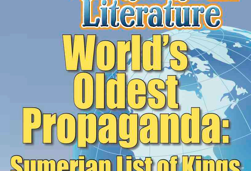 WORLD'S OLDEST PROPAGANDA: SUMERIAN LIST OF KINGS—Language Worksheets