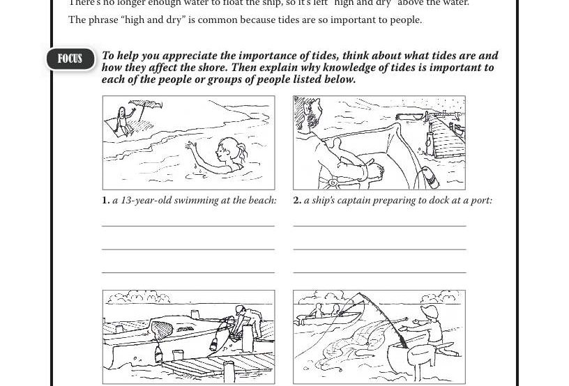 Amazing World Record of Geography: TIDES—Worksheets and ...