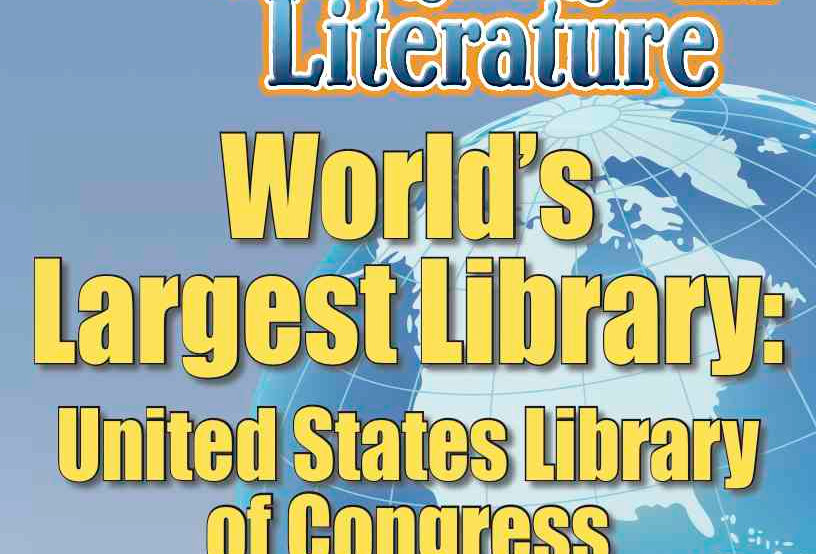 WORLD'S LARGEST LIBRARY: UNITED STATES LIBRARY OF CONGRESS—Literature Worksheets
