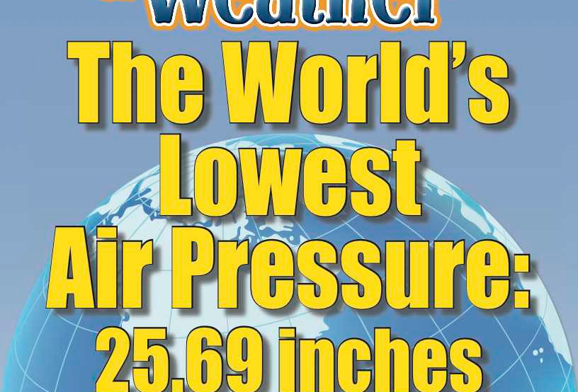 Amazing World Record of Weather: LOWEST AIR PRESSURE—Worksheets and Activities