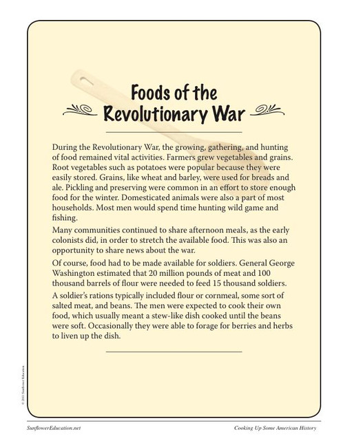 Cooking up some american history revolutionary war recipes delight your students with three authentic and easy to make recipes from the american revolution hasty pudding firecake and hoecakesmushcakes george forumfinder
