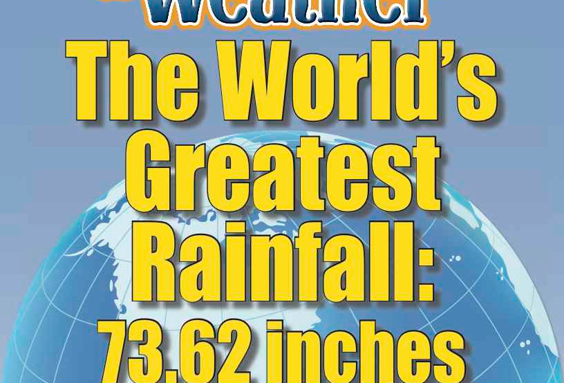 Amazing World Record of Weather: GREATEST RAINFALL—Worksheets and Activities
