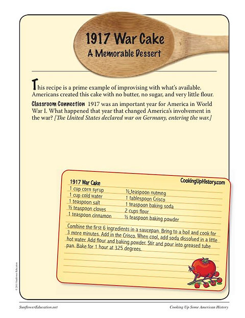 Cooking Up Some American History: World War I Recipes