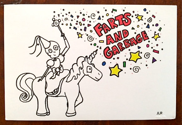 Farts and Garbage Postcard