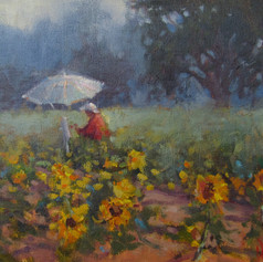 Painting Sun Flowers