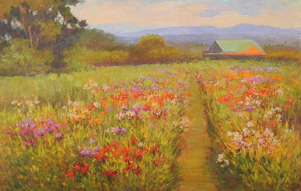 """""""Blooming Zinnias in Crozet"""""""