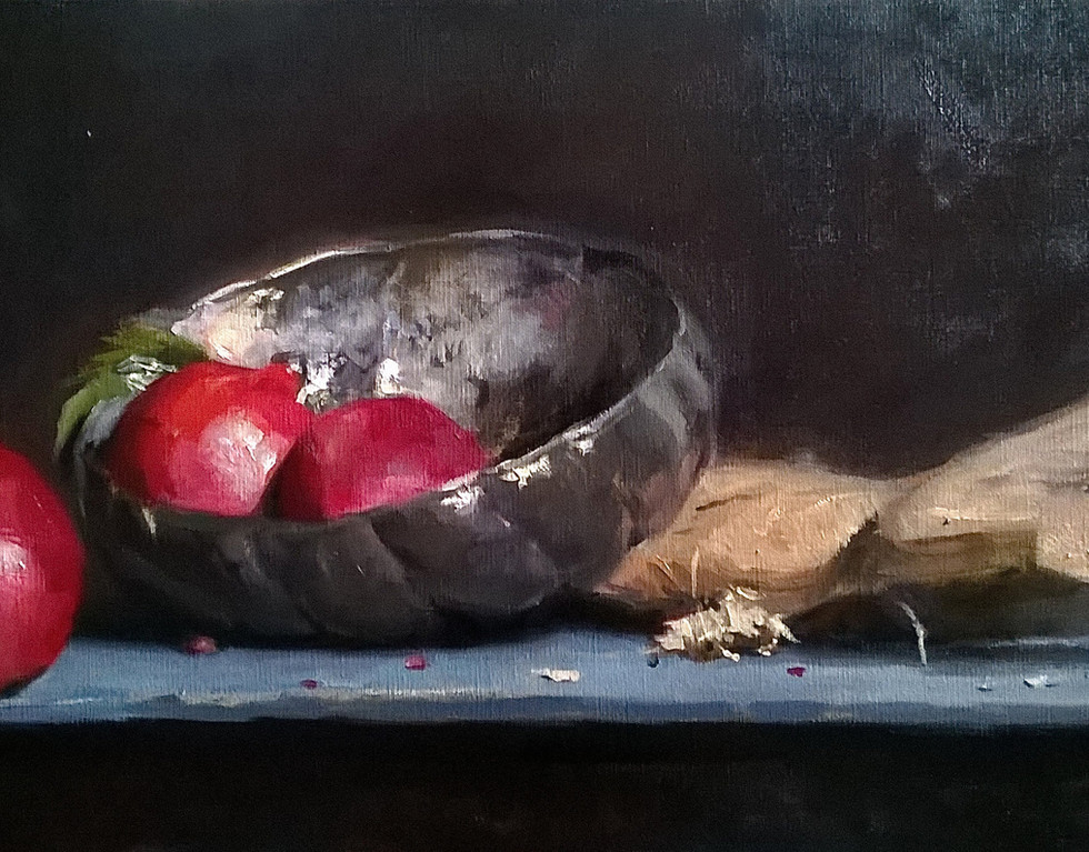 Silver with Pomegranates