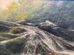 Waterfall in Fog