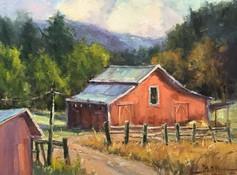 Mountain Light (red barn)