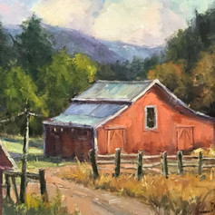 Mountain Light (red barn)