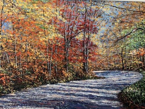 "Autumn Splendor 24""x30"" oil on canvas $4200"