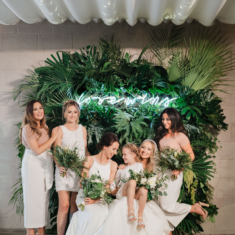 Cool and Stylish Wedding for Sarah and Jessica at Axnoller