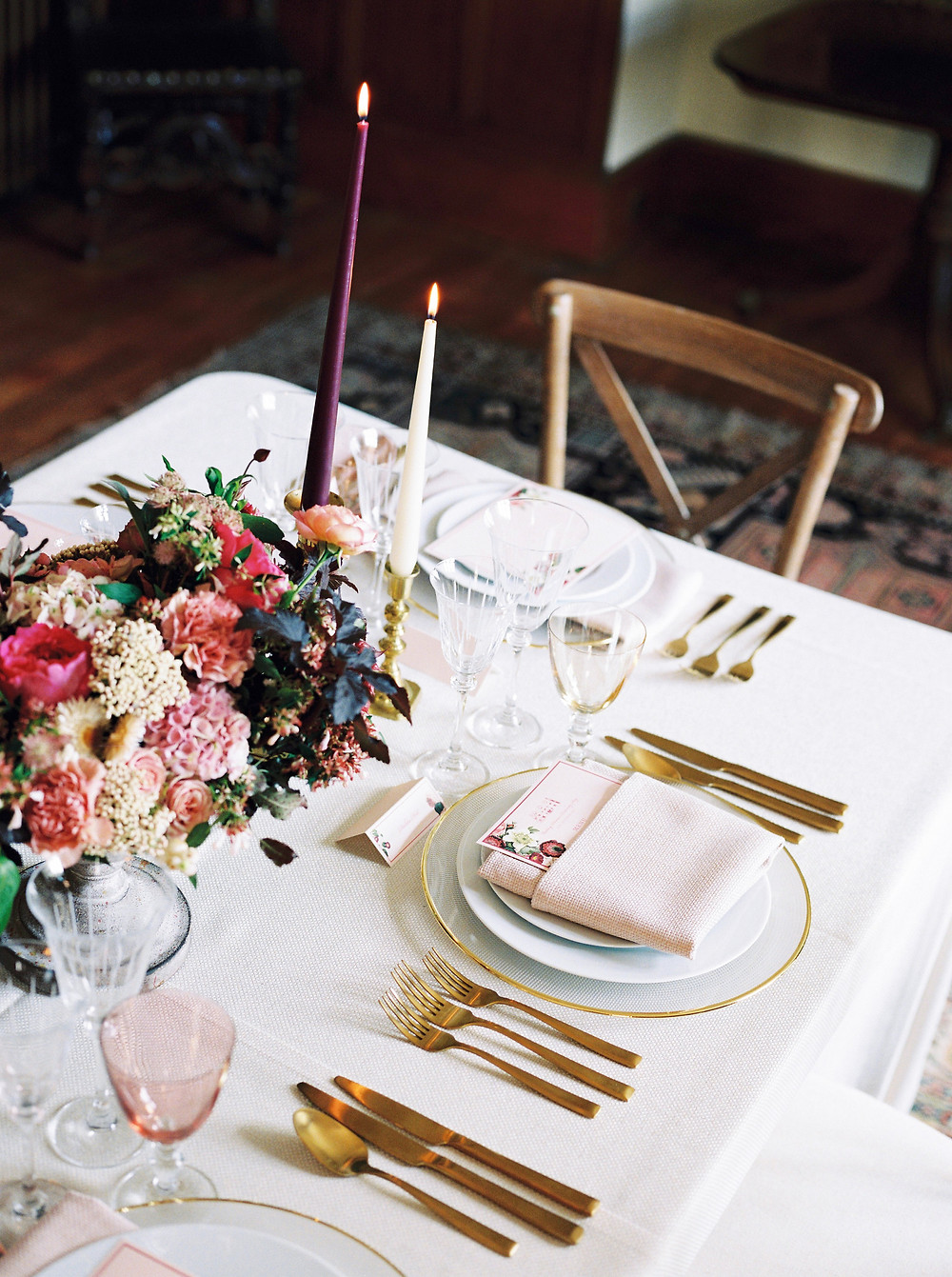 Dining Room Styling - Wedding Venue Dorset