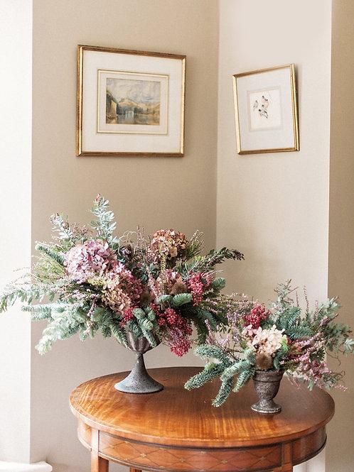 A Faded Noel Christmas Arrangements | Dorset Flowers
