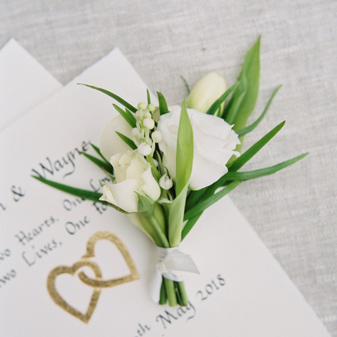 Buttonhole for Elopement at Hotel Endlsleigh