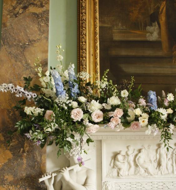 Abundance of English Roses at Powderham Castle for Kate.