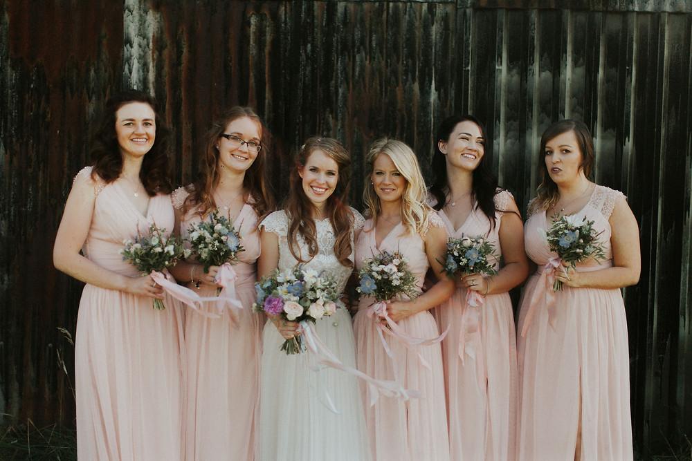 Bridal Party Dorset Wedding