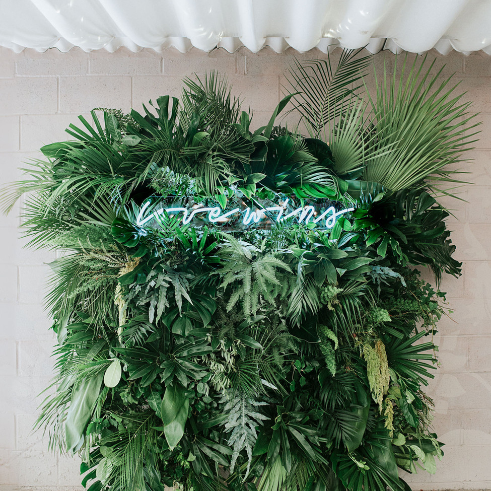 Foliage Wall Installation at Axnoller