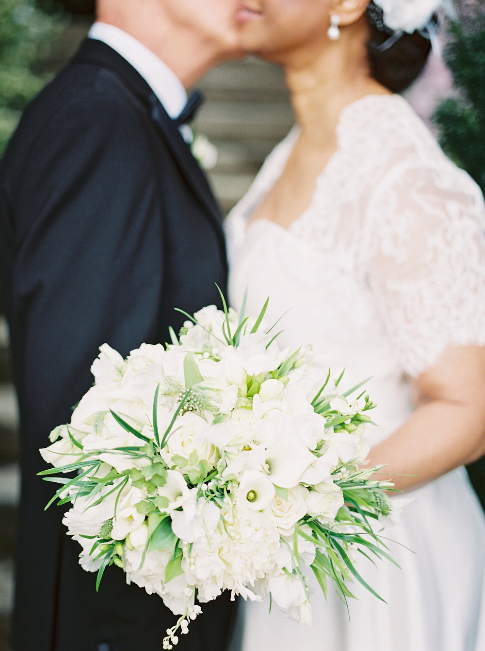 White Classic Bridal Bouquet - Lilly of the Valley