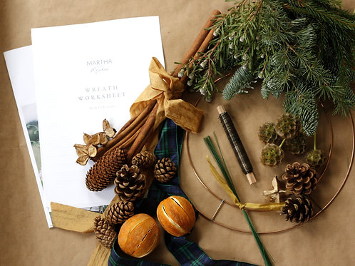 A Golden Christmas | At Home Wreath Kit
