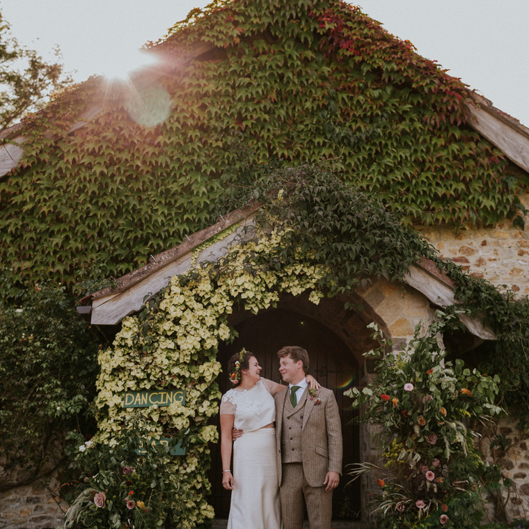 Stylish Autumnal Home Wedding for Nat and Imogen.