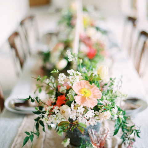 Spring Wedding Table Setting.