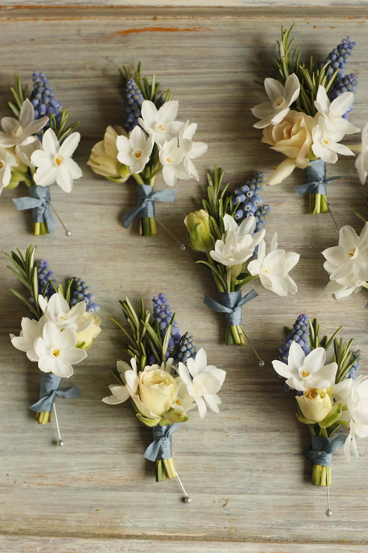 Dorset Wedding - Spring Buttonholes