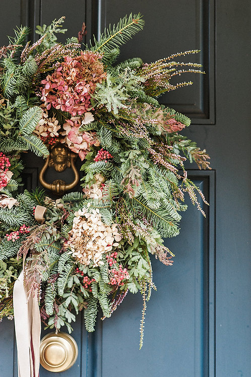 A Faded Noel Christmas Wreath | Dorset Florist and Flowers