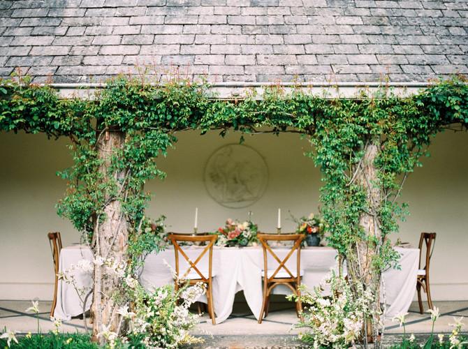 Spring Wedding Set up