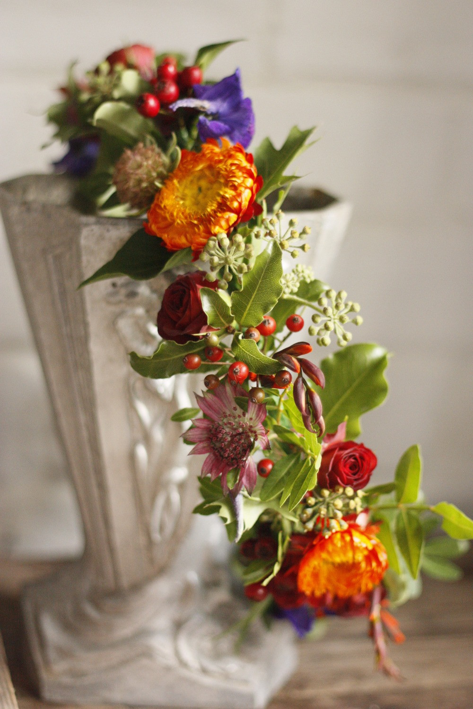Floral Crown Dorset Wedding