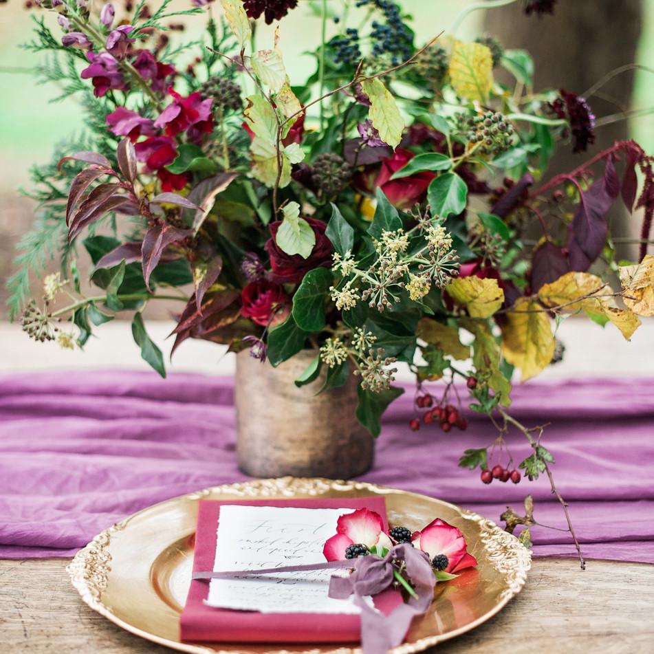 Autumn Wedding Table Centre