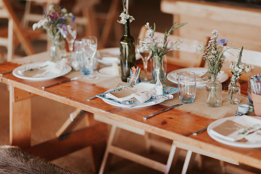 Rustic tablescape - Dorset Wedding