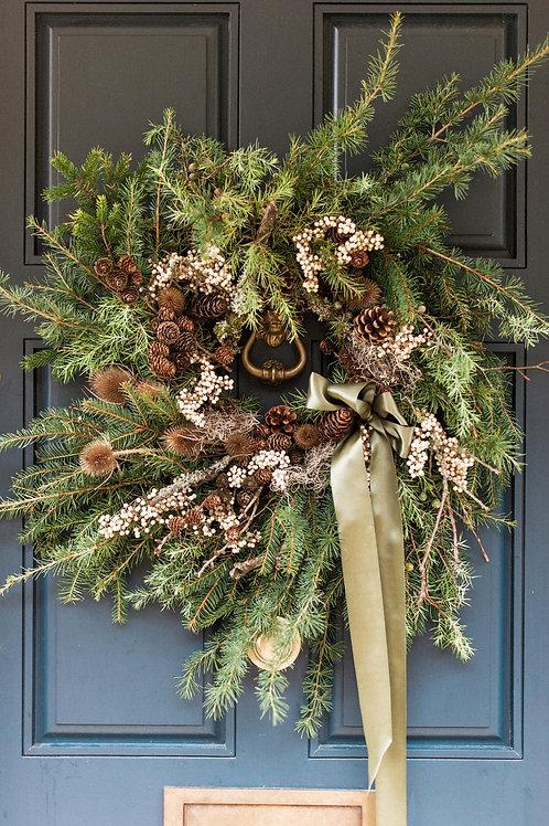 Silent Night Christmas Wreath | Dorset Florist and Flowers
