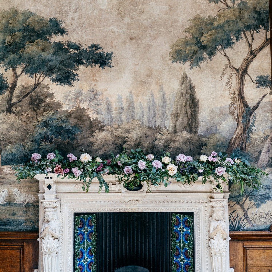 Fireplaces at Clevedon Hall for Elena's Wedding