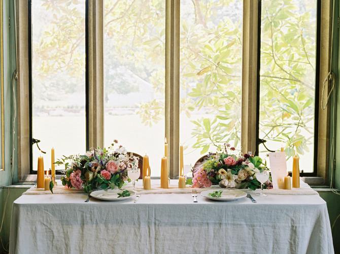 Summer Flower Tablescape