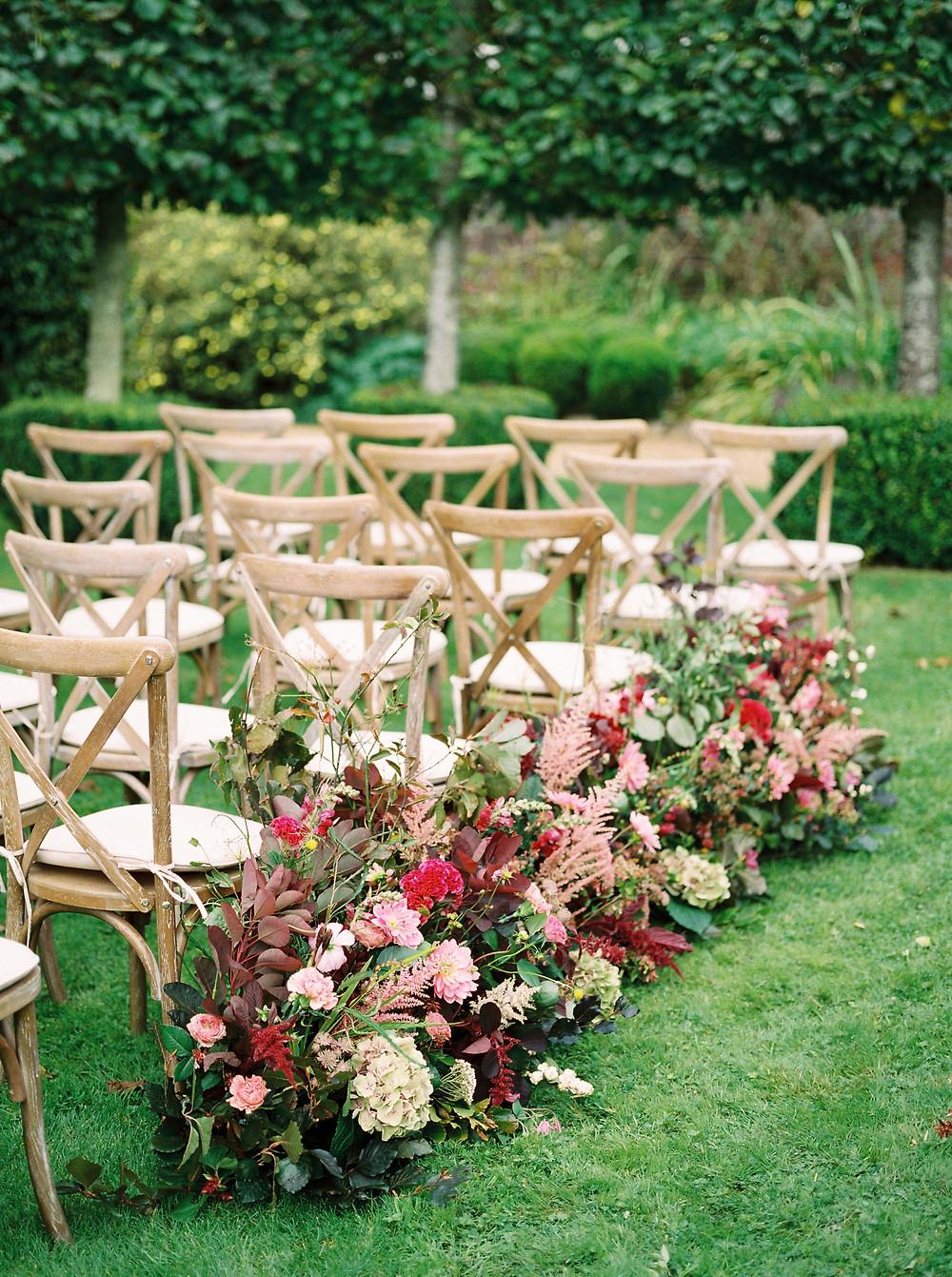 Aisle Flowers - Wedding Venue Dorset